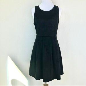 Ya Los Angeles suede black dress